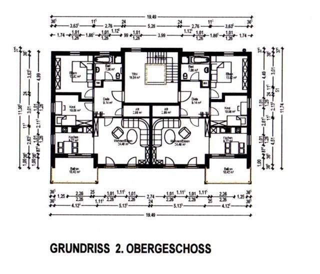 Stock; Grundriss 2.Stock; Grundriss Dachterrassenwohnung ...