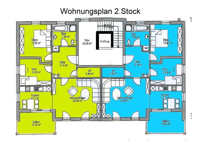 Wohnungsplan  Immobilien - Pocking - *F. Lidl Immo* stylische 3 Zimmer Wohnung ...