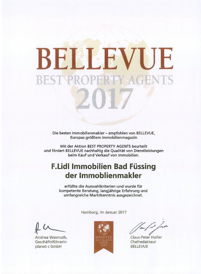 Immobilienmakler Dingolfing auszeichnungen bellevue best proberty agents 2017