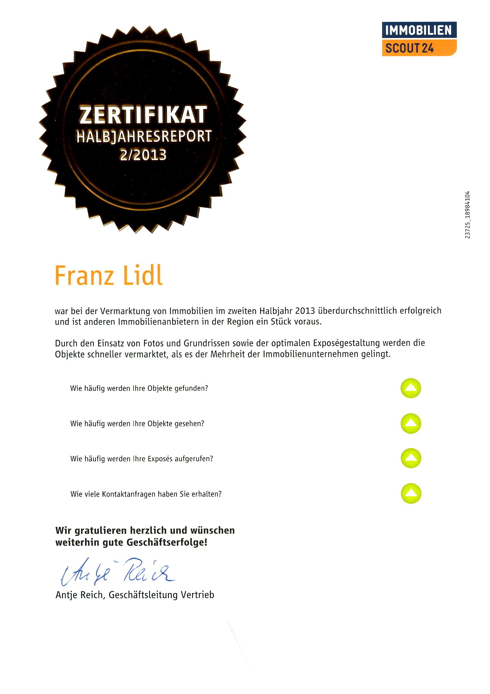 Auszeichnung Immobilienscout24